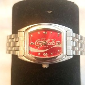 COCA COLA Ladies Stainless Collectable Watch